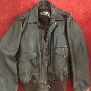 Schott Bomber Made in USA Brown Leather EUVC